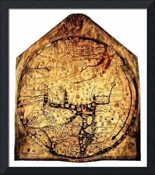 Hereford Mappa Mundi Small White Border
