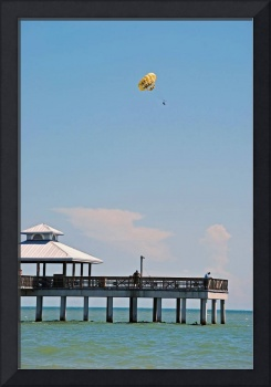 Parasailing off the Ft Myers Pier