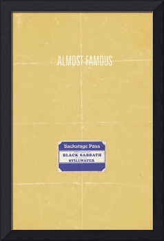 Almost Famous minimalist movie poster