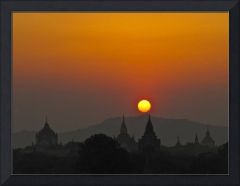 Sunset in Bagan, Myanmar, Burma