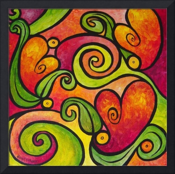 Tangled Hearts - Whimsical Hearts and Vines