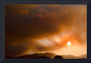 4 Mile Canyon Wildfire Sun Setting