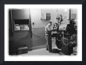 1958 Movie Theater Projection Room
