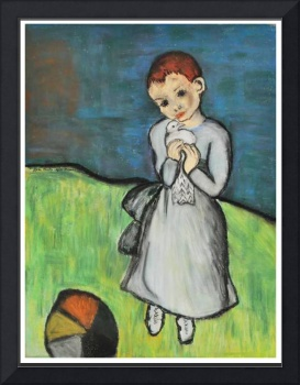 Girl with a Pigeon_after Picasso