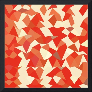 Coral Red Abstract Low Polygon Background