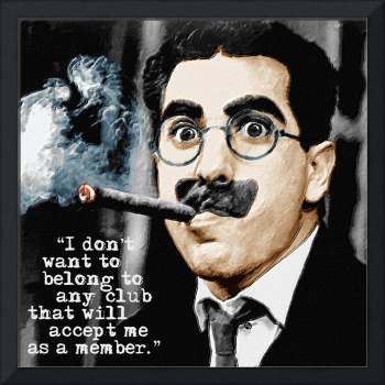 Groucho Marx And Quote Square