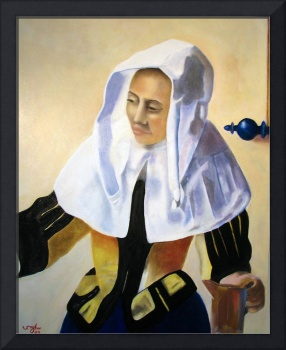 Woman with a Water Pitcher - after Vermeer