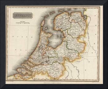 Vintage Map of Holland (1817)