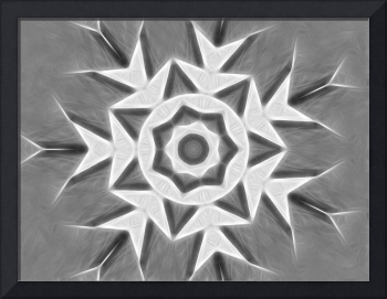 Gray Kaleidoscope Art 22 Large Snowflake