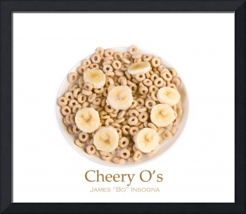 Bowl of toasted Oats Cereal Cheery O