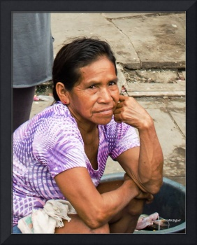 Woman at Market - Iquitos, Peru