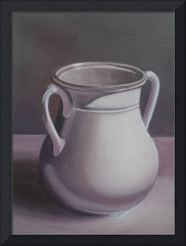 Monochrome Burgundy Amphora Oil Painting 2007