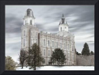 Manti Temple Large-16x22-tinted