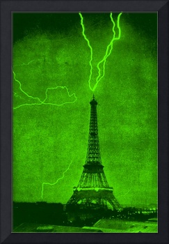 Eiffel Tower Struck By Lightening