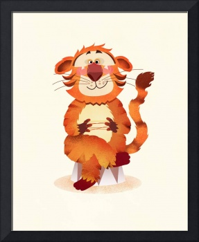 orange tiger, illustration for children