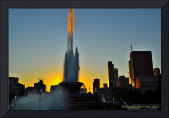 Sunset Behind Buckingham Fountain