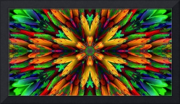 Abstract Multi Coloured Armour Flower