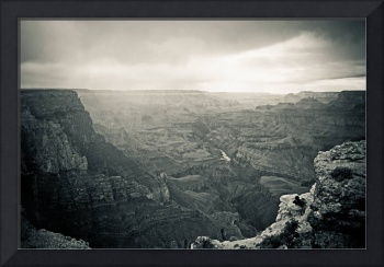 Amazing Grand Canyon B&W View