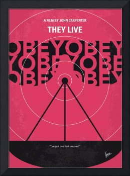 No919 My They Live minimal movie poster