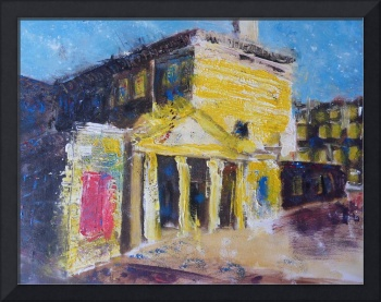Assembly Rooms, Sunset - original painting