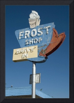 Neon Sign Frost Shop Ice Cream