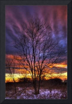 Sunset Sky in Winter Sugarcreek Township