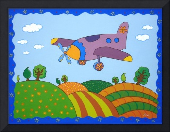 Cartoon plane Landscape