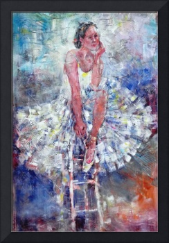 Ballet Dancer on the Stool - Dance Art Gallery