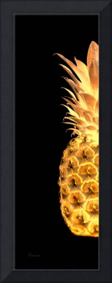 14Gl Artistic Glowing Pineapple Digital Art Gold