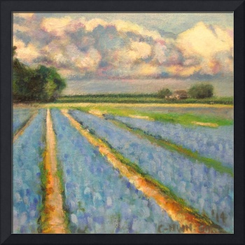 Flowers Bulb Fields Landscape Triptych 3 of 3