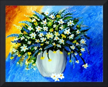 Decorative Floral Acrylic Painting G62017