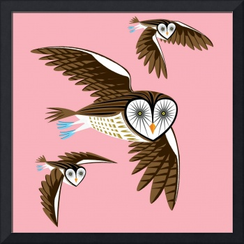 Owls On The Prowl - Limited Edition Print