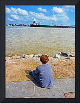 High Tide on the Mississippi River, New Orleans #2