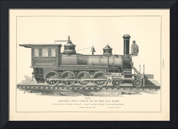 Fig.72 - Twelve-Wheel Freight Locomotive Engraving