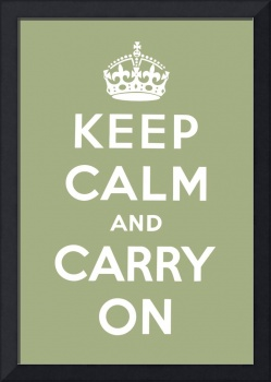 Green Keep Calm And Carry On 6