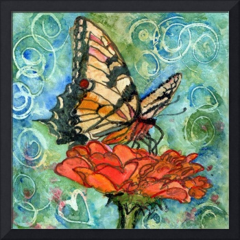 butterfly prints | Summer Butterfly Swirls I
