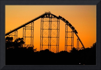 Steel Force Roller Coaster at Sunset