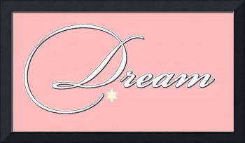 dream white on pink