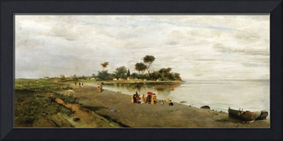 Elegant Figures at the Shore by Konstantinos Volan