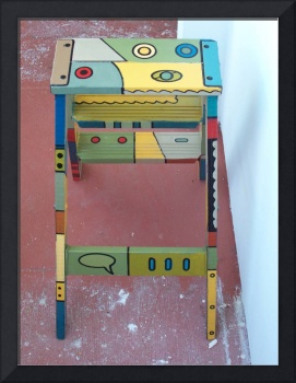 Painted step ladder