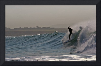 Going down - surfing @ Freshwater Bay, Isle of Wig