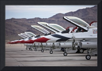 F-16C Thunderbirds on the ramp at Nellis Air Force