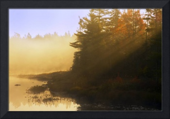 Mist At Sunrise, Soldier Lake, Nova Scotia