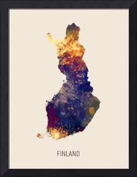 Finland Watercolor Map
