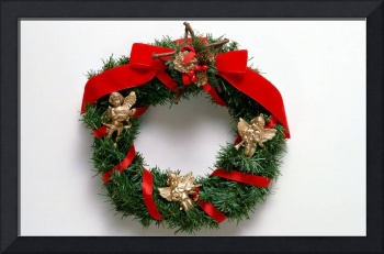 Christmas Wreath With Angels