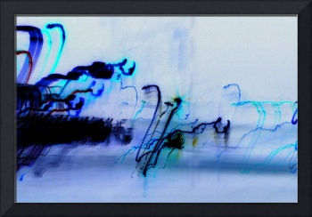 inverted light painting blue