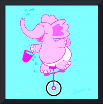 Elephant on wheels