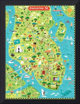 Illustrated Map of Charleston, SC by Nate Padavick
