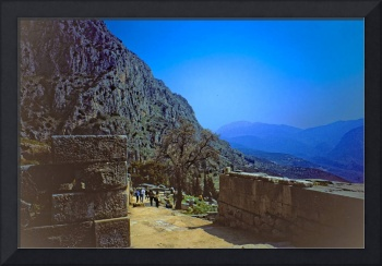 The Sacred Way in Springtime, Delphi, Greece 2003