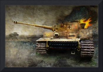 tiger tank faces T-34, eastern front